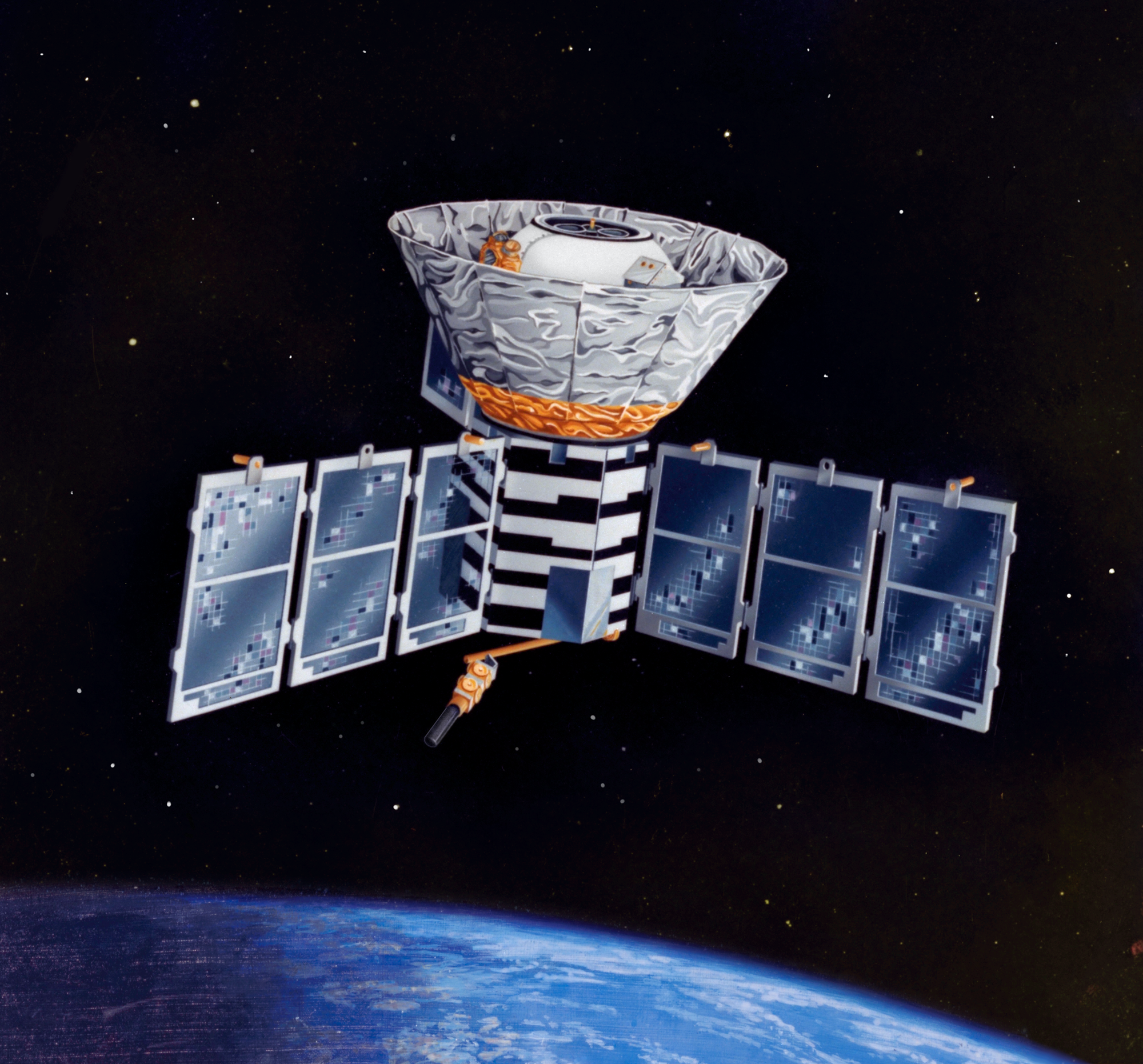 COBE Satellite in Orbit